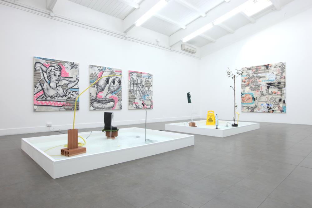 Installation view, Josh Reames, Wet & Wild, Brand New Gallery