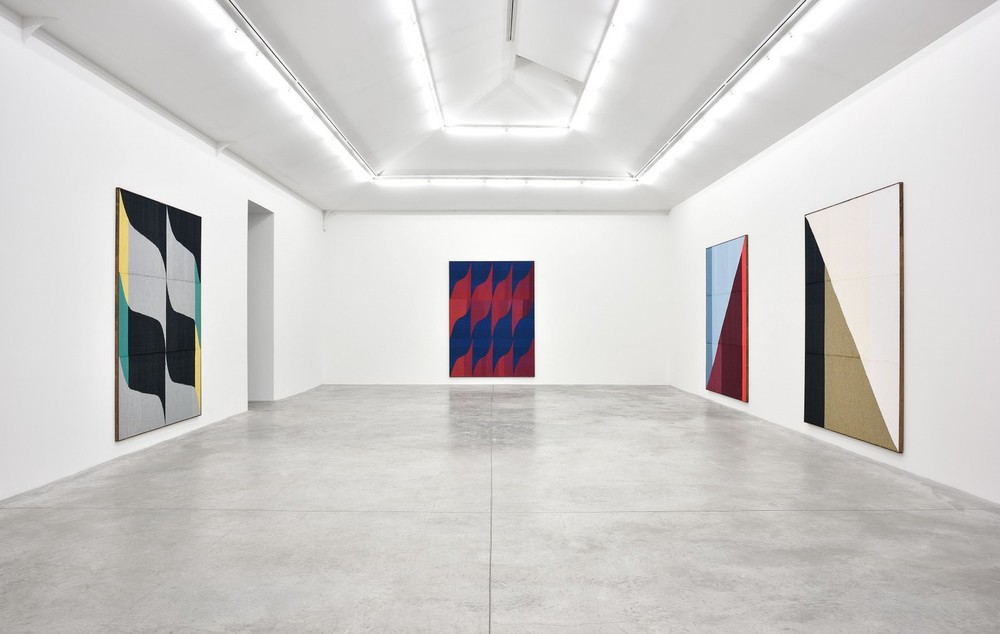 Installation view, Brent Wadden, Soft Peace, Almine Rech Gallery