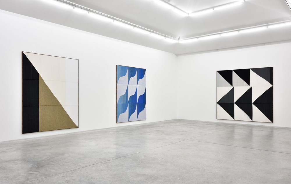 Installation view, Brent Wadden,  Soft Peace , Almine Rech Gallery