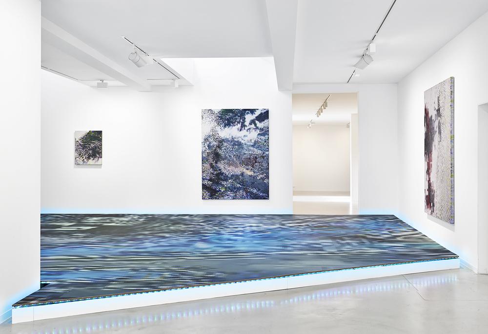 Installation view,Konrad Wyrebek,2°C above acCLI-‐M8 X, Ron Mandos