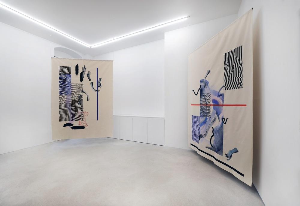 Installation view, Fay Nicolson, UN MAKE ME, Galerie Rolando Anselmi