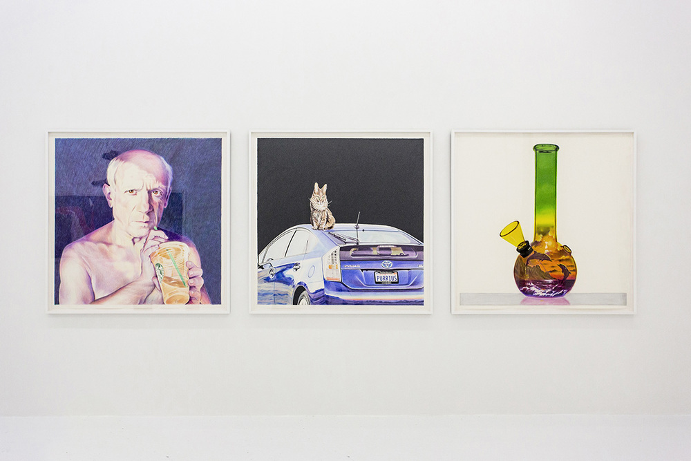 Installation view, Eric Yahnker, Steve Jobs' Day Off, The Hole