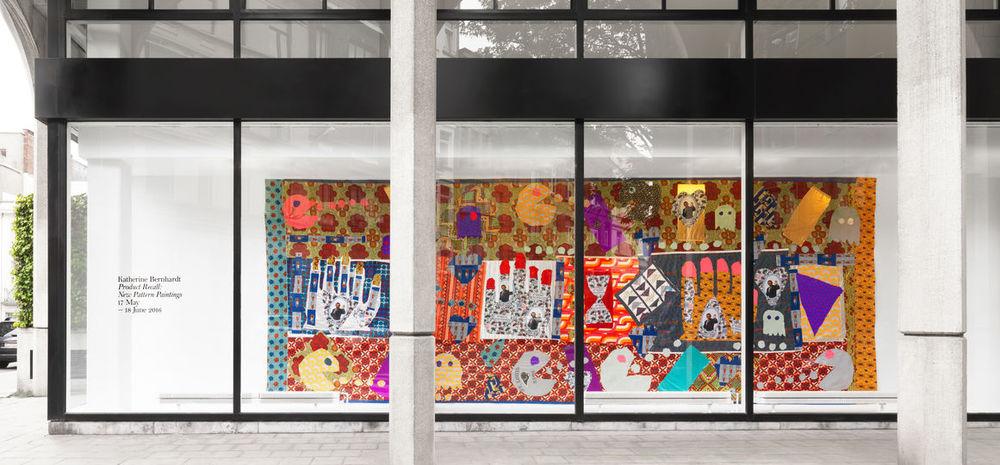 Installation view,Katherine Bernhardt,Product Recall: New Pattern Paintings, Xavier Hufkens