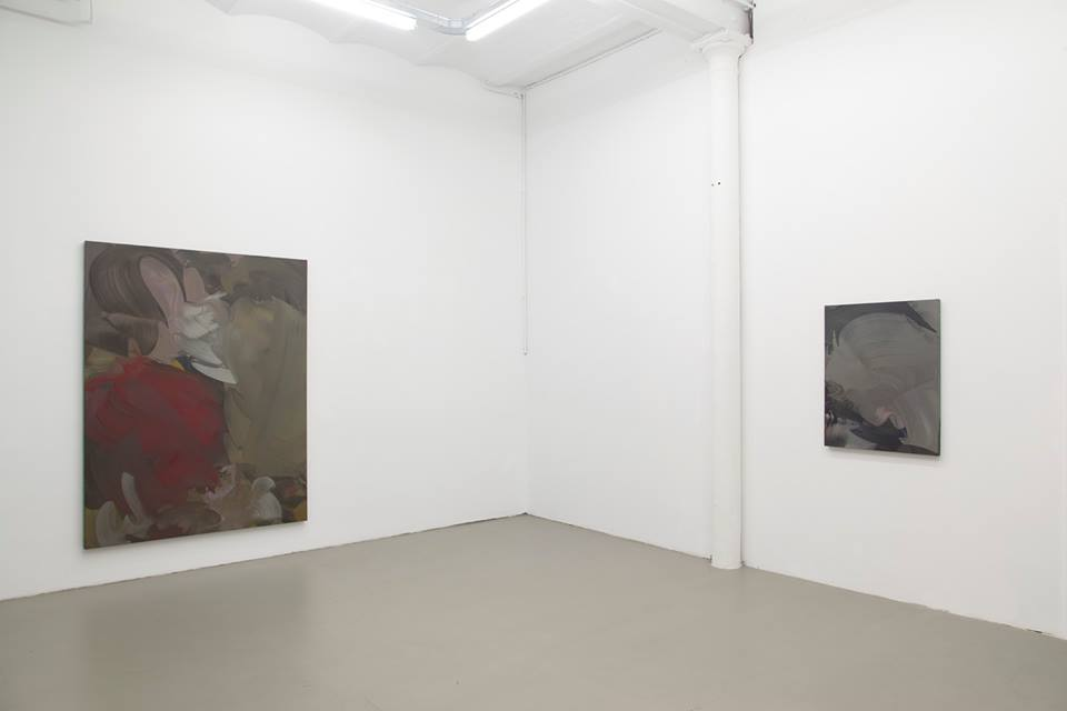 Installation view, Erwin Lawlor, Paintings, Rod Barton