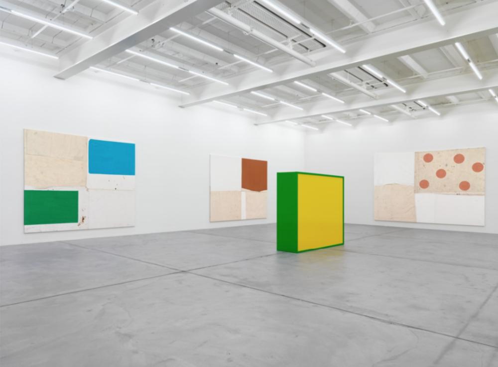 Installation view, Joe Bradley, Canton Rose , Galerie Eva Presenhuber