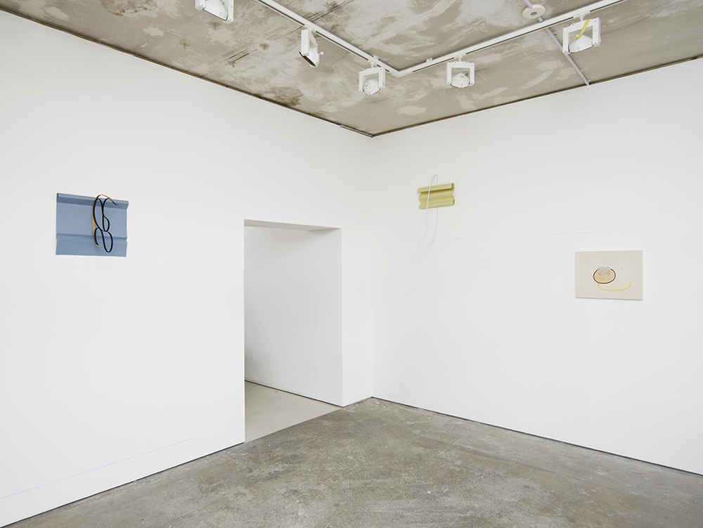 Installation view, I Hear You Singing In The Wire, Arcade