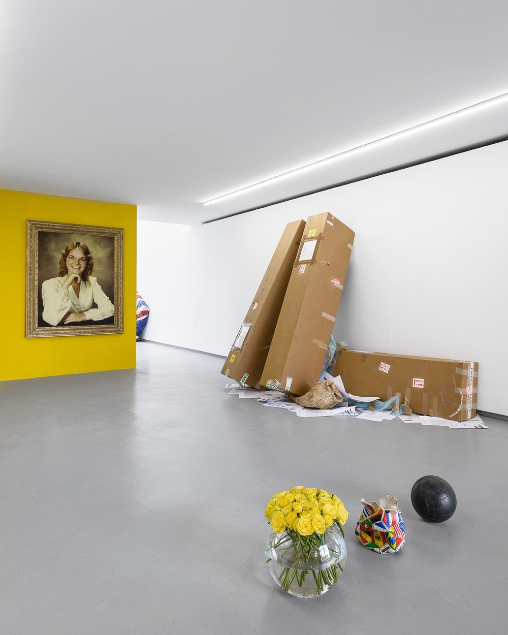 Installation view, Graham Wilson, Cauling All My Contemporaries... (To Come Burst My Bubble), Valentin