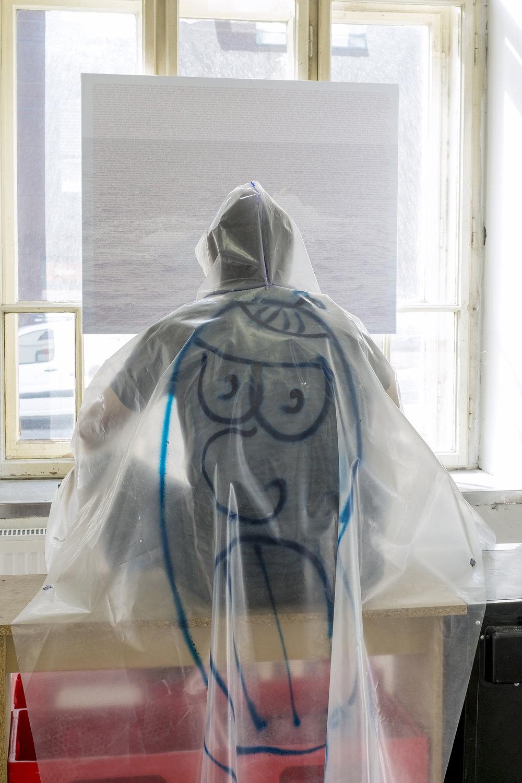 Antoine Donzeaud,  Hood Life Oversized Raincoat One Size , 2016