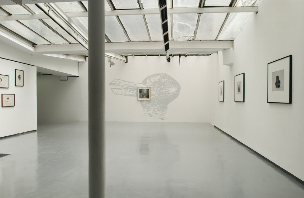 Exhibition view of « Documentary Evidence », Lisa Oppenheim, Jean-Luc Moulène and Christopher Williams (with Ross Birrell and Alexandra Leykauf), curated by Sophie Berrebi, Valentin, Paris, 2004  courtesy of the artists and Valentin gallery, Paris