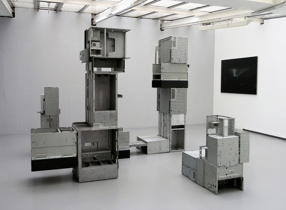 Exhibition view of « Goldbarrgorod » by Nicolas Moulin, Valentin, Paris, 2008  courtesy of the artist and Valentin gallery, Paris