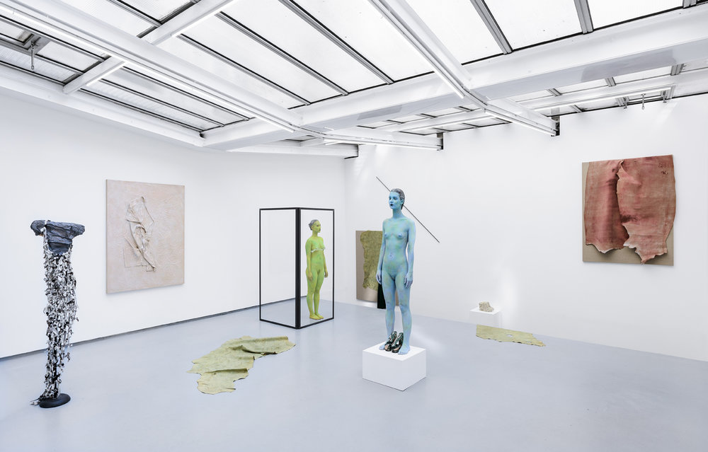 Exhibition view of « Water scars » by Donna Huanca, Valentin, Paris, 2015  courtesy of the artist and Valentin gallery, Paris / © Gregory Copitet
