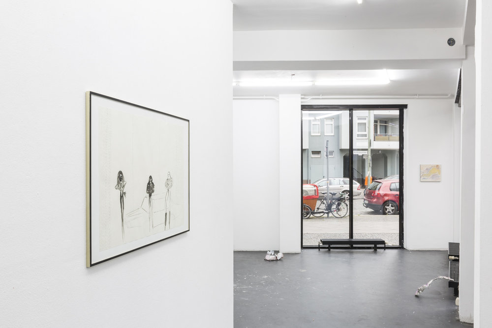 Installation view,  Psaumes du Gorphoncelet , Center