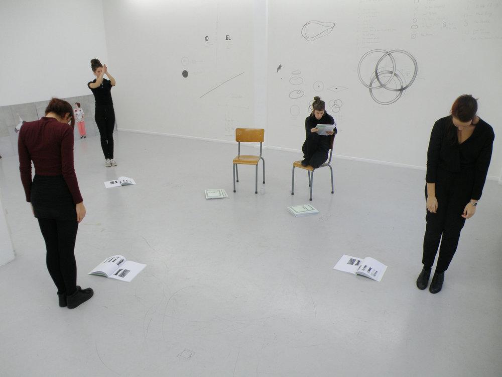 THE SINTHOME SCORE, 2014 PERFORMANCE COURTESY THE ARTIST AND ELLEN DE BRUIJNE PROJECTS , AMSTERDAM DORA GARCÍA PHOTO: ELLEN DE BRUIJNE