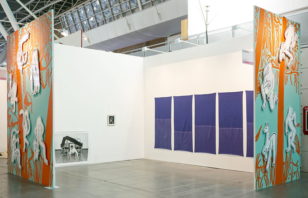 Galeria Madragoa's booth at Artissima