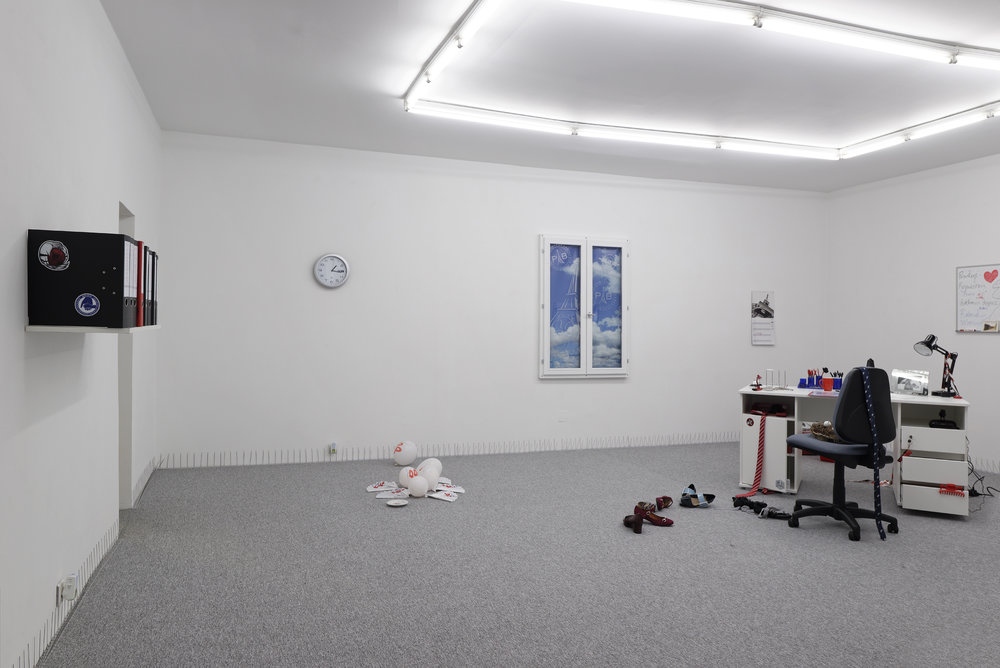Installation view, Amalia Ulman, Reputation, New Galerie