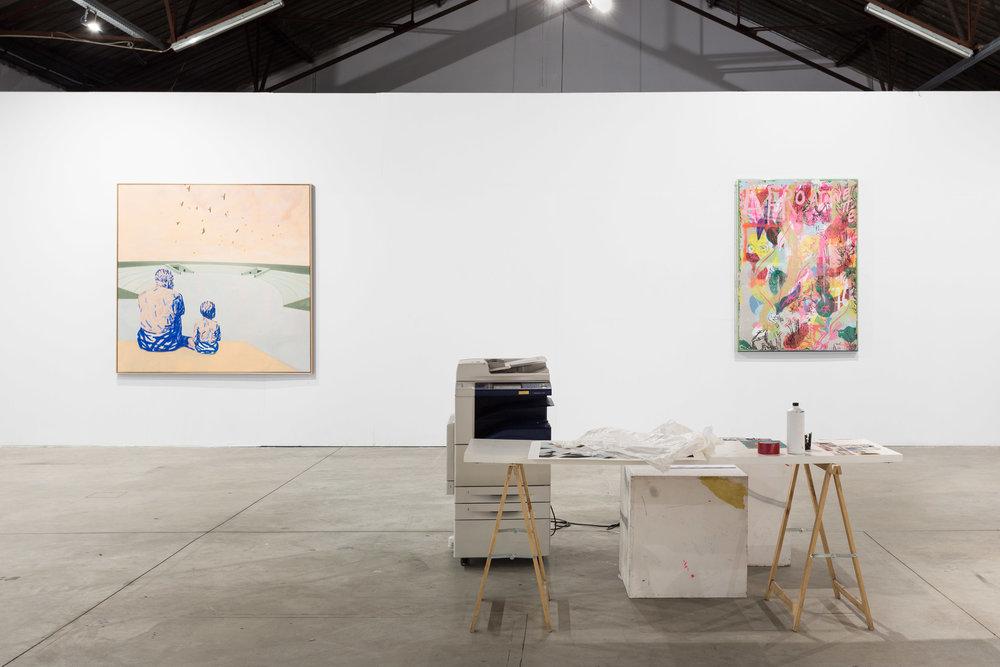 Installation view, Francisco Vidal and Pedro Batista, Marginal , Underdogs Gallery