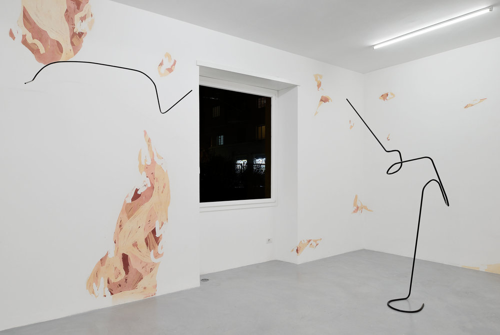 Installation view, Yorgos Stamkopoulos,  Trajectory,  Galleria Mario Iannelli