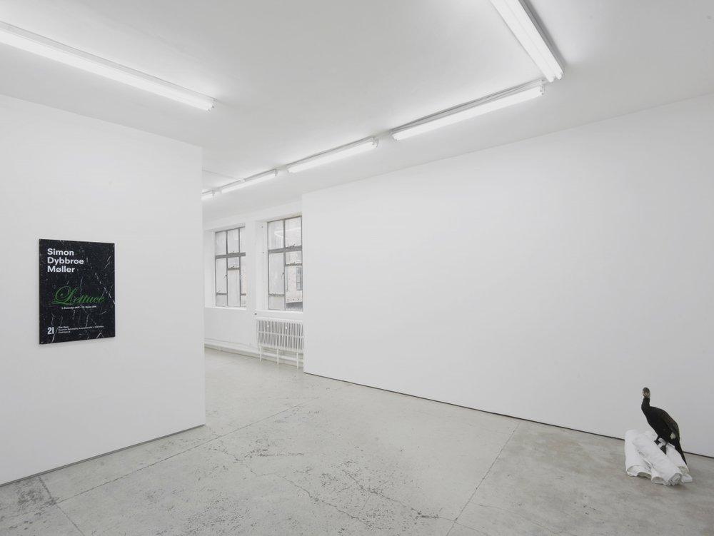 Installation view,Simon Dybbroe Møller,&, Laura Bartlett Gallery