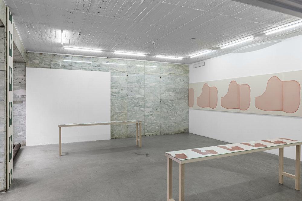 Installation view, Landon Metz, Quintets, VI, VII