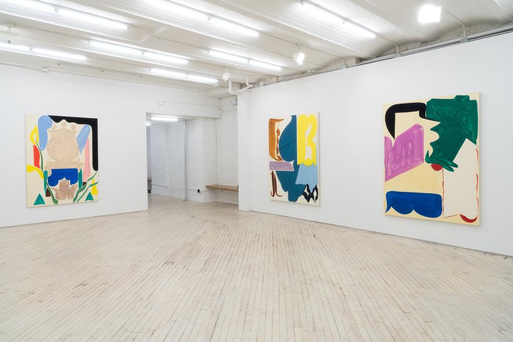 Installation view, Patricia Treib, Intersticies, Bureau