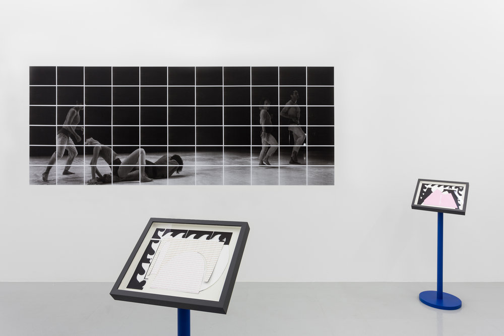 Installation view, Emily Roysdon,  scenic, say , Kunsthalle Lissabon