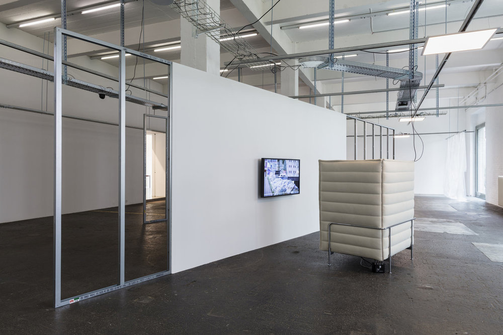 Installation view, Yuri Pattison, Trusted Traveller, 2017