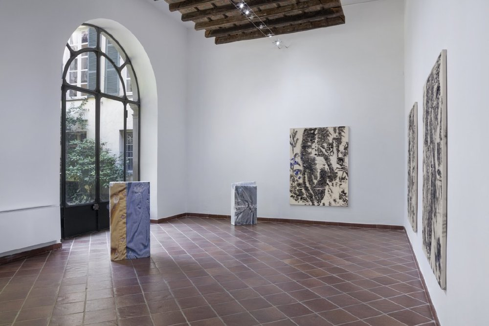 Installation view, Alberto Fiori,Detail Overruns Detail, 2017