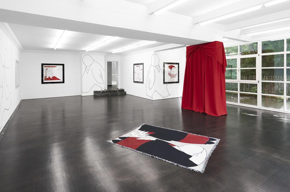 Installation view, Amalia Ulman,  Monday Cartoons , Deborah Schamoni