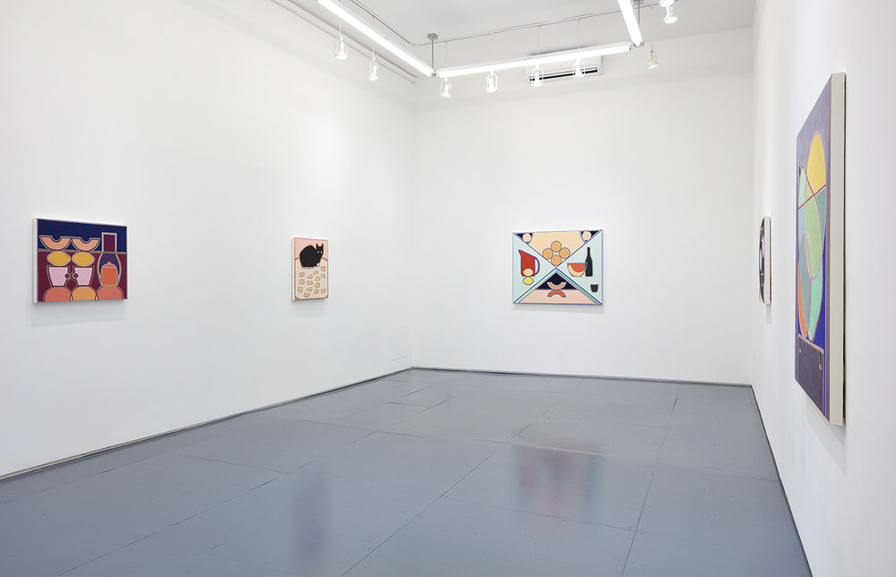 Installation view, Holly Coulis,  Table Studies , Klaus von Nichtssagend Gallery.