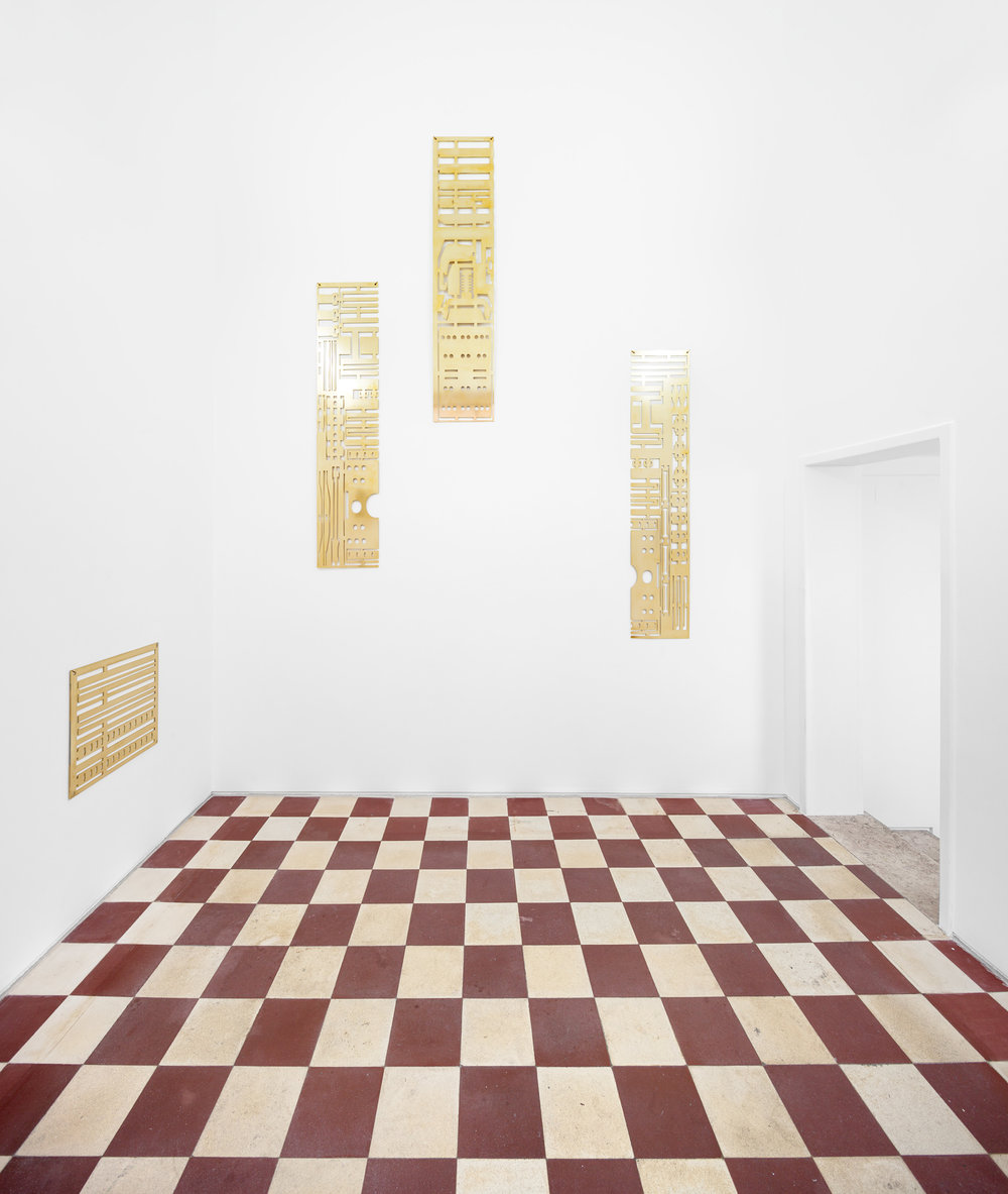ANDREIA SANTANA, Installation view with Rigatino and Tratteggio, 2017