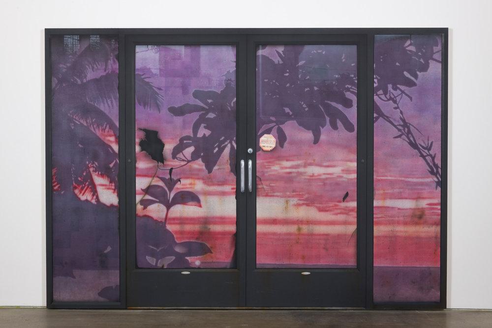 Sayre Gomez, Behind Door #2 , 2017, Acrylic on canvas, 84 x 120 inches, 213.4 x 304.8 cm