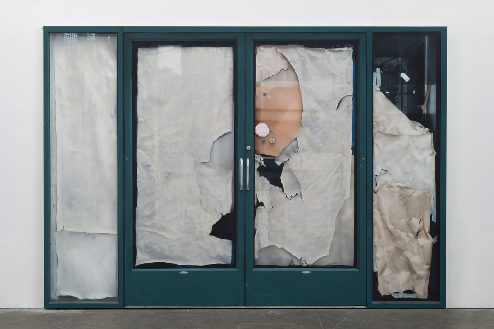 Sayre Gomez, Behind Door #1 , 2017, Acrylic on canvas, 84 x 120 inches, 213.4 x 304.8 cm