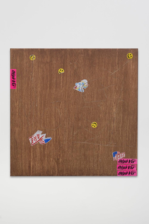 Sayre Gomez, Déjà Vu , 2017, Acrylic on canvas, 24 x 24 inches, 61 x 61 cm