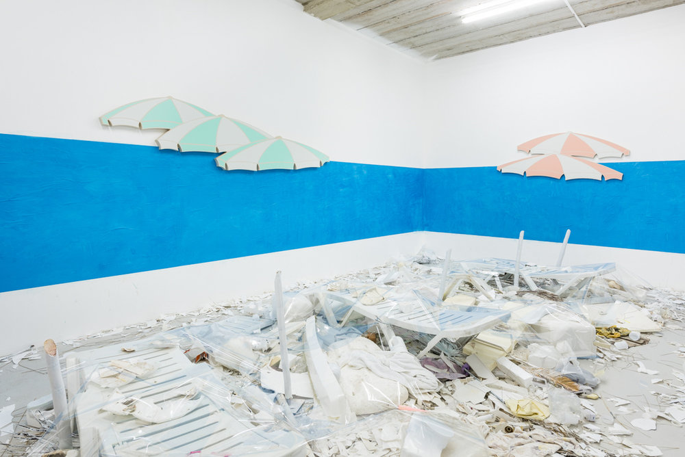 Installation view, Dominic Samsworth,  Return to Trash Island , Supplement