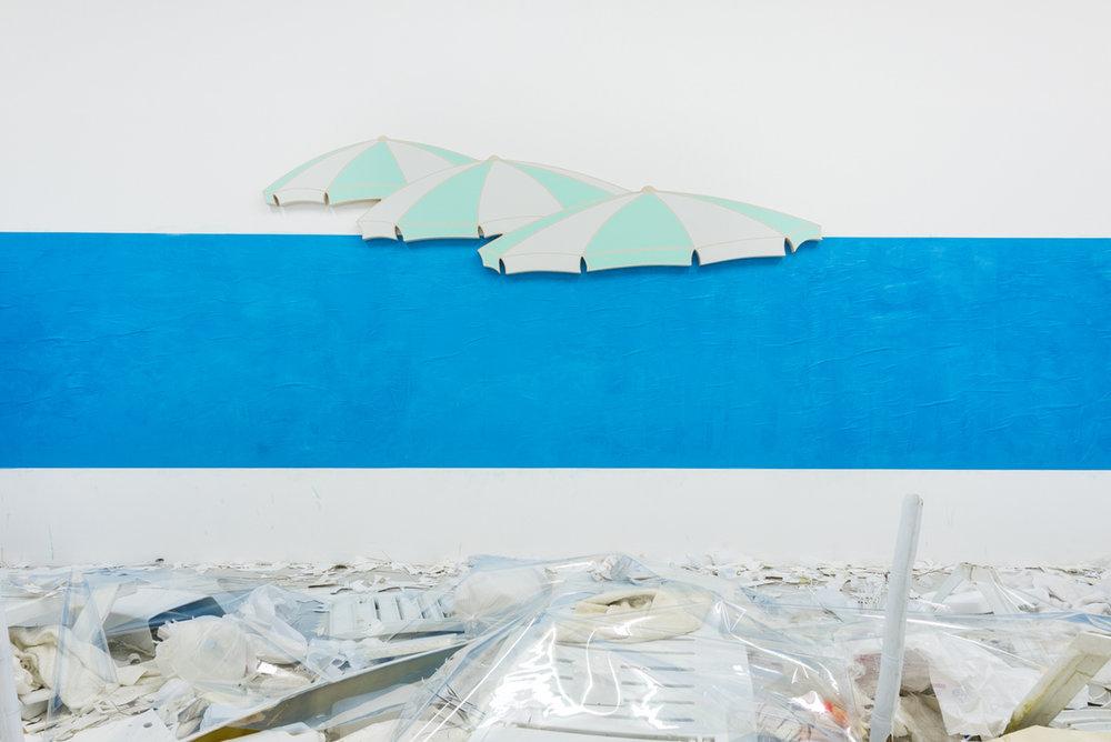 Installation view,Dominic Samsworth,Return to Trash Island, Supplement