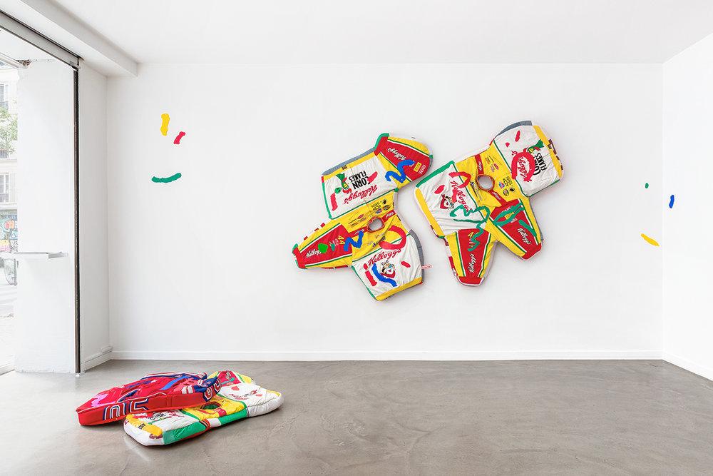 Simone Zaccagnini  RIVIERA SUNSET BOULEVARD Solo show, Galerie Derouillon 01.jpg