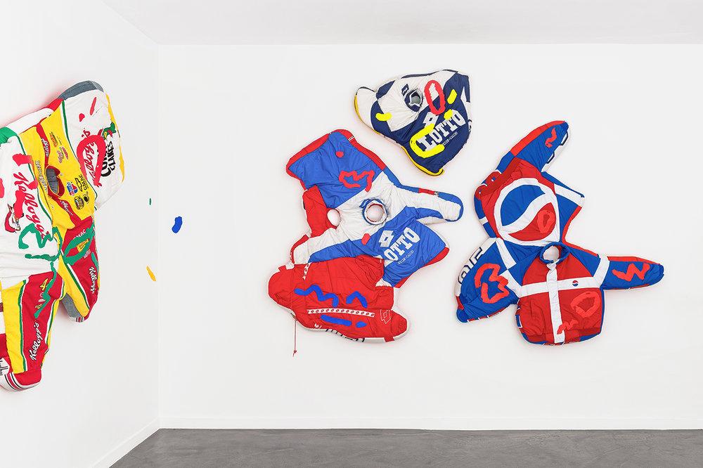 Simone Zaccagnini  RIVIERA SUNSET BOULEVARD Solo show, Galerie Derouillon 02.jpg