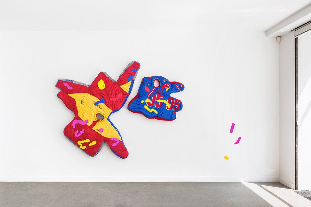 Simone Zaccagnini  RIVIERA SUNSET BOULEVARD Solo show, Galerie Derouillon 03.jpg