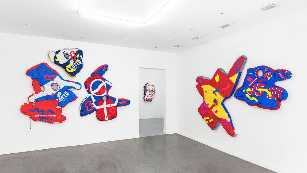 Simone Zaccagnini  RIVIERA SUNSET BOULEVARD Solo show, Galerie Derouillon 05.jpg