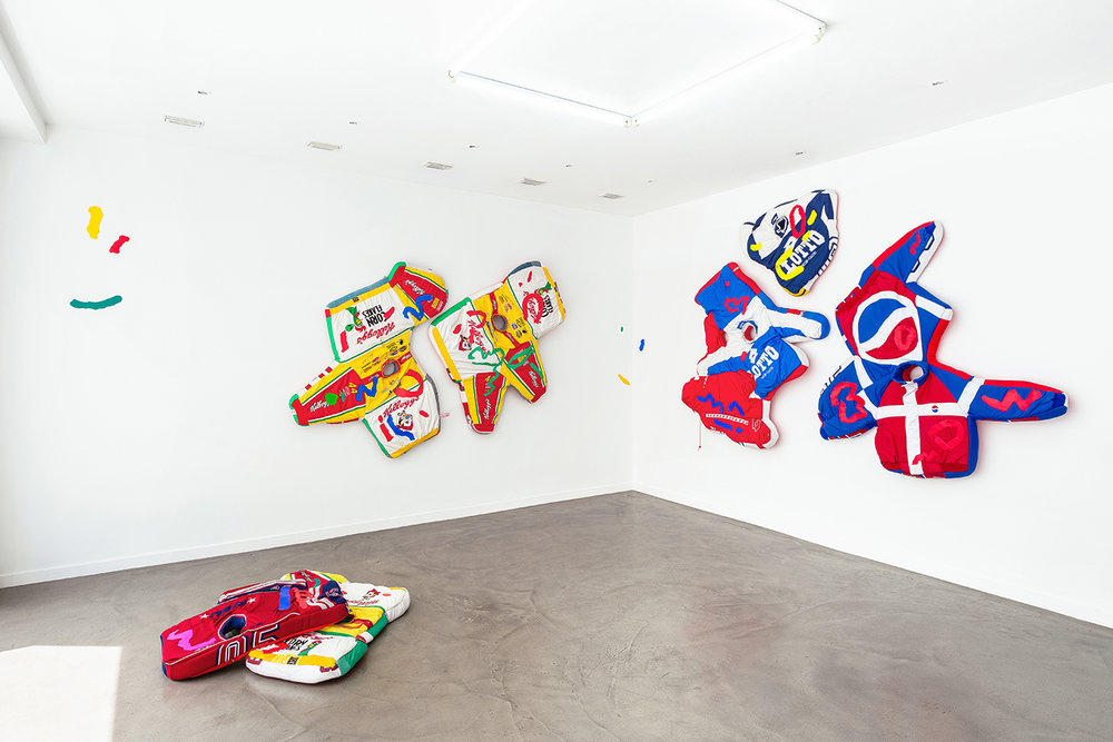 Simone Zaccagnini  RIVIERA SUNSET BOULEVARD Solo show, Galerie Derouillon 04.jpg