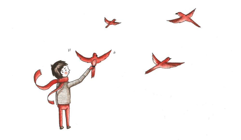boy & birds