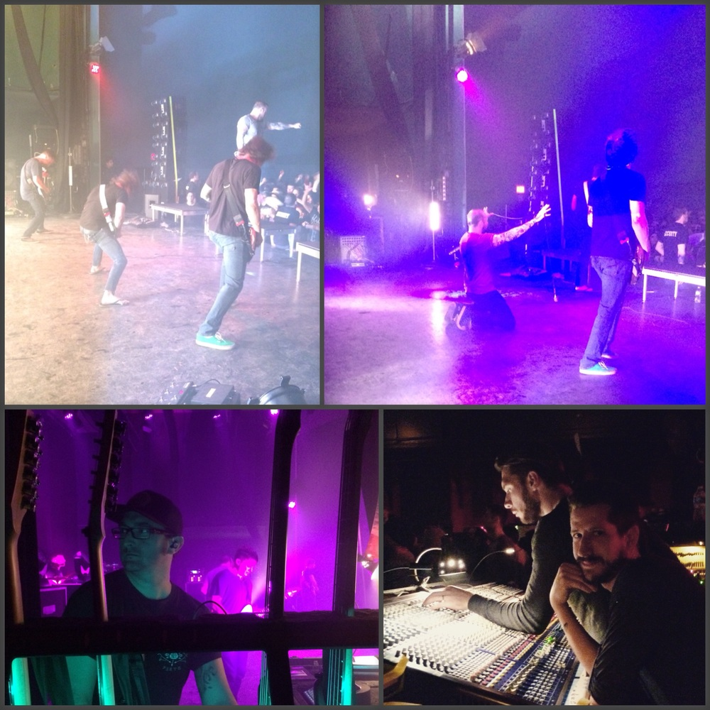 August Burns Red, Kevin and Jade & Ricky doing their jobs (tech, sound & lights)