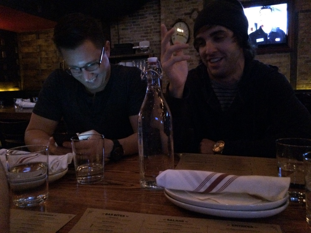 Casual night out with Brent & Dustin after a show in Chicago when I was able to visit a tour.