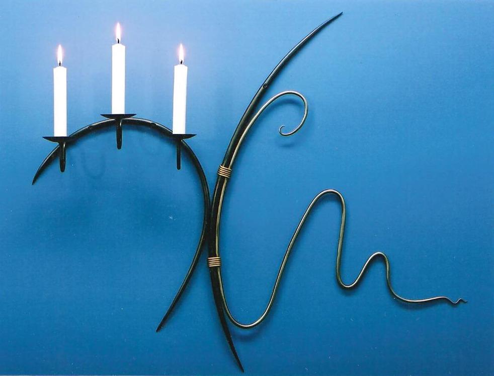 Three Metals Candleholder