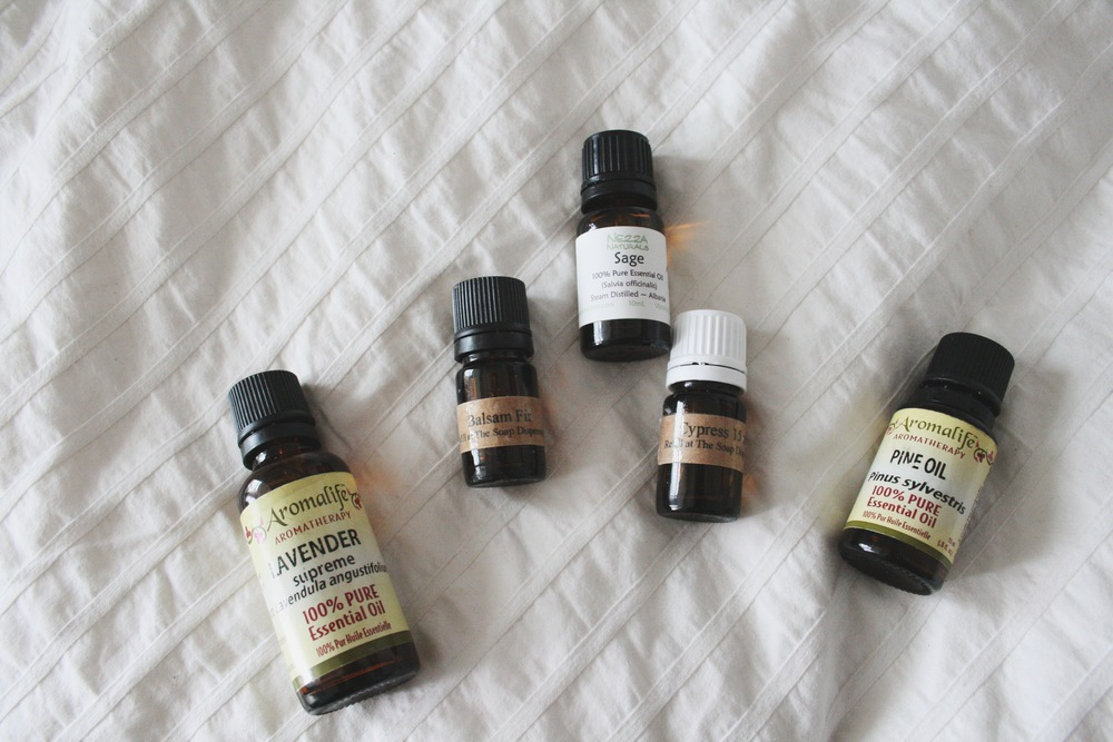 Various essential oils I had around the house
