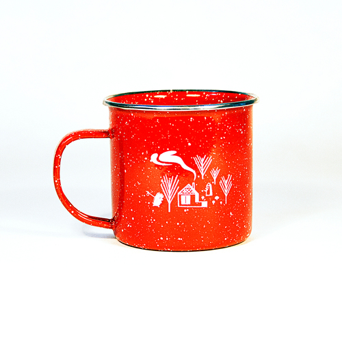 Forest and Waves Enamel Mug