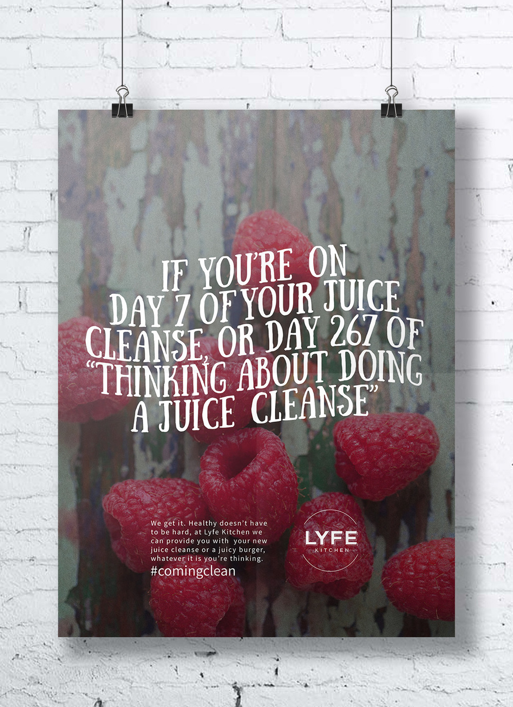 For New Brand Launch, Lyfe Kitchen. Elements Include: In Store Posters,  Guerilla Advertising, Logo Redesign, Packaging Redesign, Food Truck Concept.