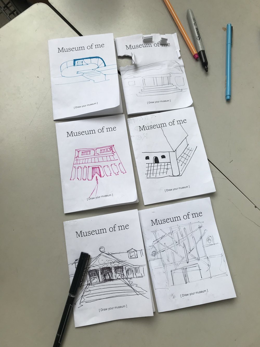 """Museum of Me  """"Maps"""" completed by participants."""
