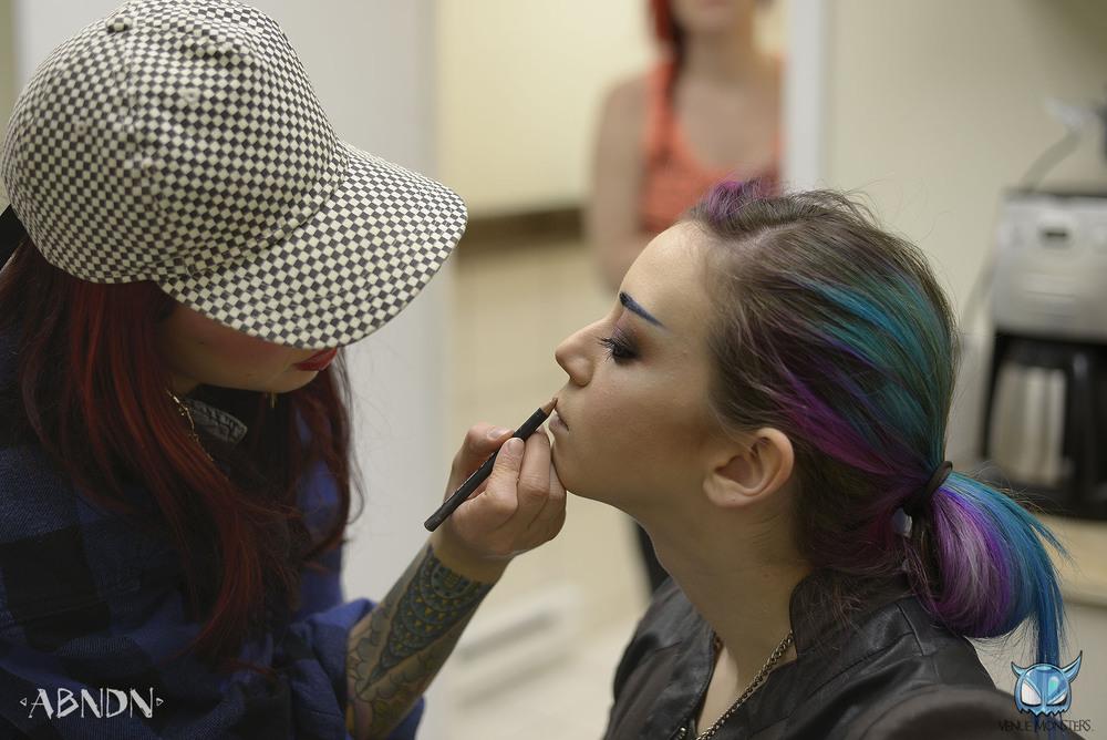 Kerrin; the makeup master.