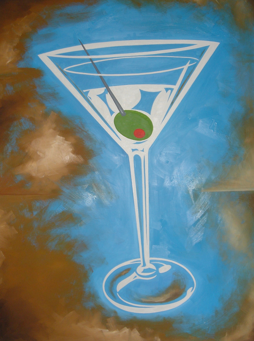 """MARTINI DREAMY"", 30""X40"" ACRYLIC ON CANVAS"
